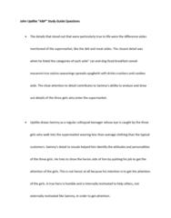 ENGL 1121 Lecture Notes - John Updike, Aisle