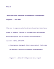 GEOG 2210 Lecture Notes - Foreign Worker, Neoliberalism
