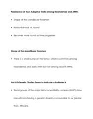 ANTH 2231 Lecture Notes - Skhul And Qafzeh Hominins, Abrigo Do Lagar Velho, Neanderthal