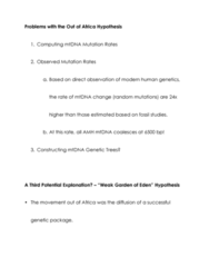 ANTH 2231 Lecture Notes - Mutation