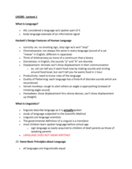 LIN200H5 Lecture Notes - Auxiliary Verb, Iconicity, Arbitrariness