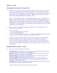 MICB 202 Study Guide - Mhc Class I, Mhc Class Ii, Adaptive Immune System