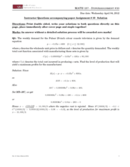 MATH 157 Lecture Notes - Solution Process