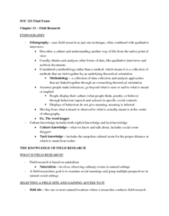 SOC221H5 Study Guide - Final Guide: Qualitative Research, Participatory Action Research, Content Analysis