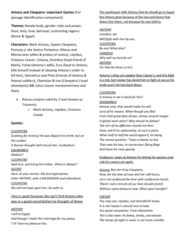 ENGB33 Study Guide - Publius Canidius Crassus, Cleopatra I Syra, Herod Agrippa