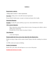 ITM 430 Lecture Notes - Class Diagram