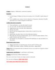 ITM 430 Lecture Notes - Lecture 2: Data Dictionary, Use Case