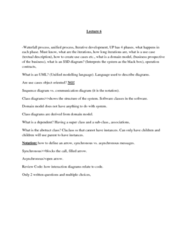 ITM 430 Lecture Notes - Lecture 6: Communication Diagram, Iterative And Incremental Development, Domain Model