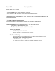 ANTH222 Lecture Notes - Alternative Medicine, Speciation, Reproductive Isolation