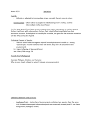 ANTH222 Lecture Notes - Large Ground Finch, Speciation