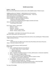 RLG206H5 Study Guide - Midterm Guide: Maitreya, Theism, Vinaya