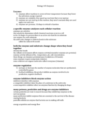 BIOL 105 Lecture Notes - Competitive Inhibition, Penicillin, Chemosynthesis