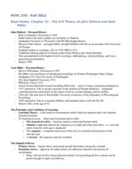 PSYC 370 Chapter Notes - Chapter 12: Western Washington University, Neal E. Miller, John Dollard