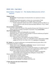 PSYC 370 Chapter Notes - Chapter 13: Wilhelm Wundt, Tabula Rasa, Stimulus Control