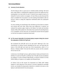 AYB219 Lecture Notes - Australian Taxation Office, Jb Hi-Fi, Gift Card