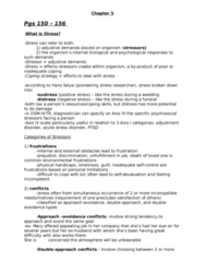 PSYC 3390 Chapter Notes - Chapter 5: Acute Stress Reaction, Adjustment Disorder, Generalized Anxiety Disorder