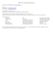 PSYC 3100 Lecture Notes - Tabula Rasa