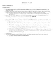 PSYC 3100 Lecture Notes - Thomas Robert Malthus, Sexual Selection, Natural Selection