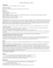 PSYC 3390 Chapter Notes -Risperidone, Senile Plaques, Retrograde Amnesia