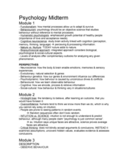 PSYC 1000 Study Guide - Midterm Guide: Availability Heuristic, Occipital Lobe, Frontal Lobe