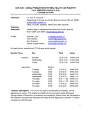 AGR 2350 Lecture Notes - Feedlot, Project 25, Codex Tischendorfianus I