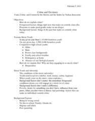 SOC100H5 Lecture Notes - Lecture 8: Criminal Record, Making Money