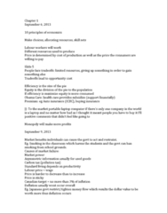 ECON 101 Study Guide - Opportunity Cost, Bc Hydro, Carbon Tax
