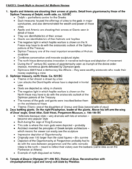 FAH101H1 Study Guide - Midterm Guide: Siphnian Treasury, Ancient Greek Temple, Chariot Racing