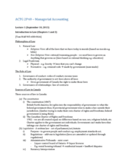 ACTG 2P40 Lecture Notes - Precedent, Small Claims Court, Implied Consent