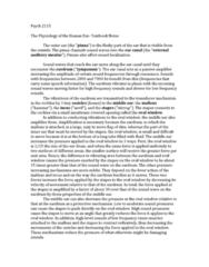 Psychology 2115A/B Study Guide - Oval Window, Eustachian Tube, Eardrum
