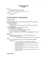 Geography 1400F/G Study Guide - Final Guide: Infant Mortality, Millennium Development Goals, Industrial Revolution