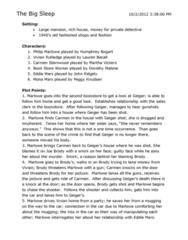 FS103 Study Guide - King Donovan, Yoko Tsukasa, Humphrey Bogart