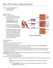 BIOL273 Chapter Notes -Autonomic Nervous System, Membrane Potential, Motor Unit