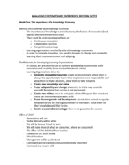 MGMT 1000 Study Guide - Midterm Guide: Situation Two, Midlife Crisis, Small Changes