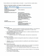 ENCH 213 Lecture Notes - Detection Limit, Regression Analysis, Certified Reference Materials