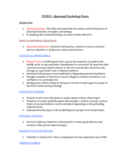 PSYB32H3 Chapter Notes -Philippe Pinel, Intellectual Disability, Abnormal Psychology