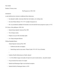 HIST 450 Lecture Notes - William Randolph Hearst, Hiram Johnson, International Brotherhood Of Teamsters