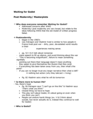 ENG110Y5 Lecture Notes - Postmodernity, Macguffin