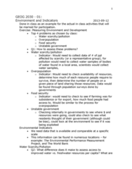 GEOG 3020 Lecture Notes - Food Security, Environmental Governance, Horse Length