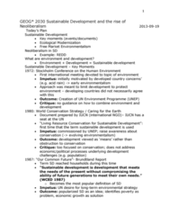 GEOG 3020 Lecture Notes - Earth Summit, Free-Market Environmentalism, United Nations Conference On Sustainable Development