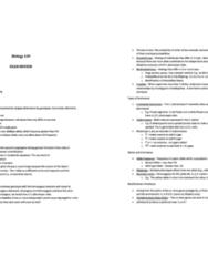 BIO 239 Exam Notes
