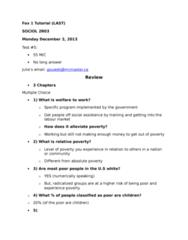 SOCIOL 2R03 Study Guide - Final Guide: Stonewall Riots