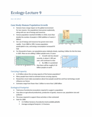 Biology 2483A Lecture Notes - Logistic Function, Survivorship Curve, Smashproof