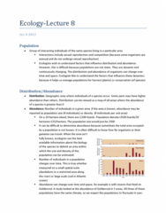 Biology 2483A Lecture Notes - Orthohantavirus, Chameleon, Aspen Grove