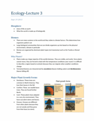 Biology 2483A Lecture Notes - Hyporheic Zone, Photic Zone, Cactus