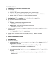 Psychology 2800E Lecture Notes - Lecture 9: University Of Western Ontario, Nonprobability Sampling, Simple Random Sample