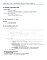 CRIM135, Topic #5 - The Canadian Constitution (Part 2)