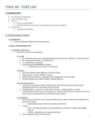 CRIM 135 Lecture Notes - Ginger Beer, False Imprisonment