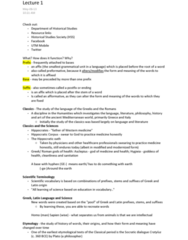CLA201H5 Lecture Notes - Adverb, Conjunctivitis, Interjection