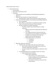 POLS 241 Lecture Notes - Iroquois, Liberal Democracy, Negative Liberty